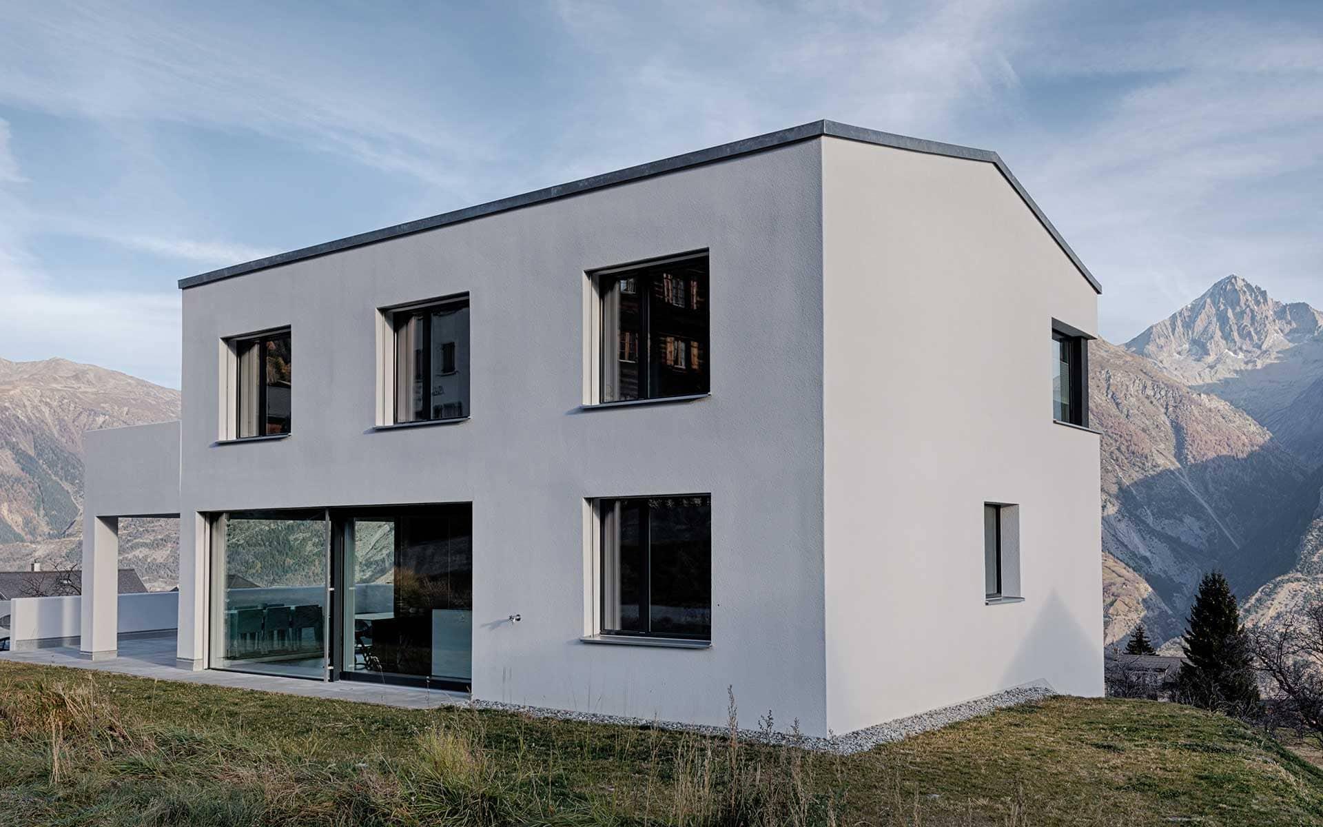 architektur neubau efh pfammatter raumlayout gmbh architektur innenarchitektur. Black Bedroom Furniture Sets. Home Design Ideas